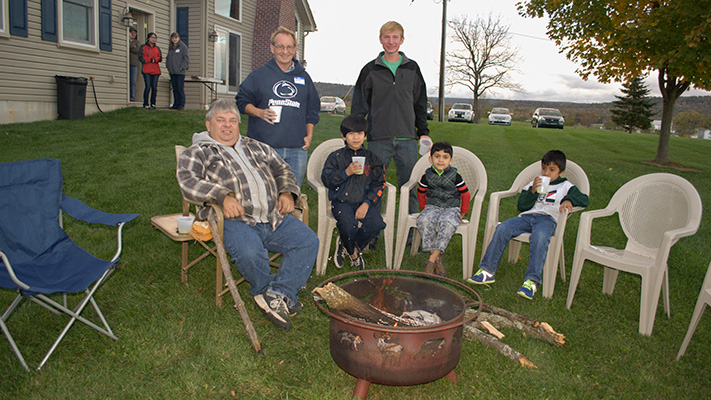 Hayride, Hot Dogs for International Guests