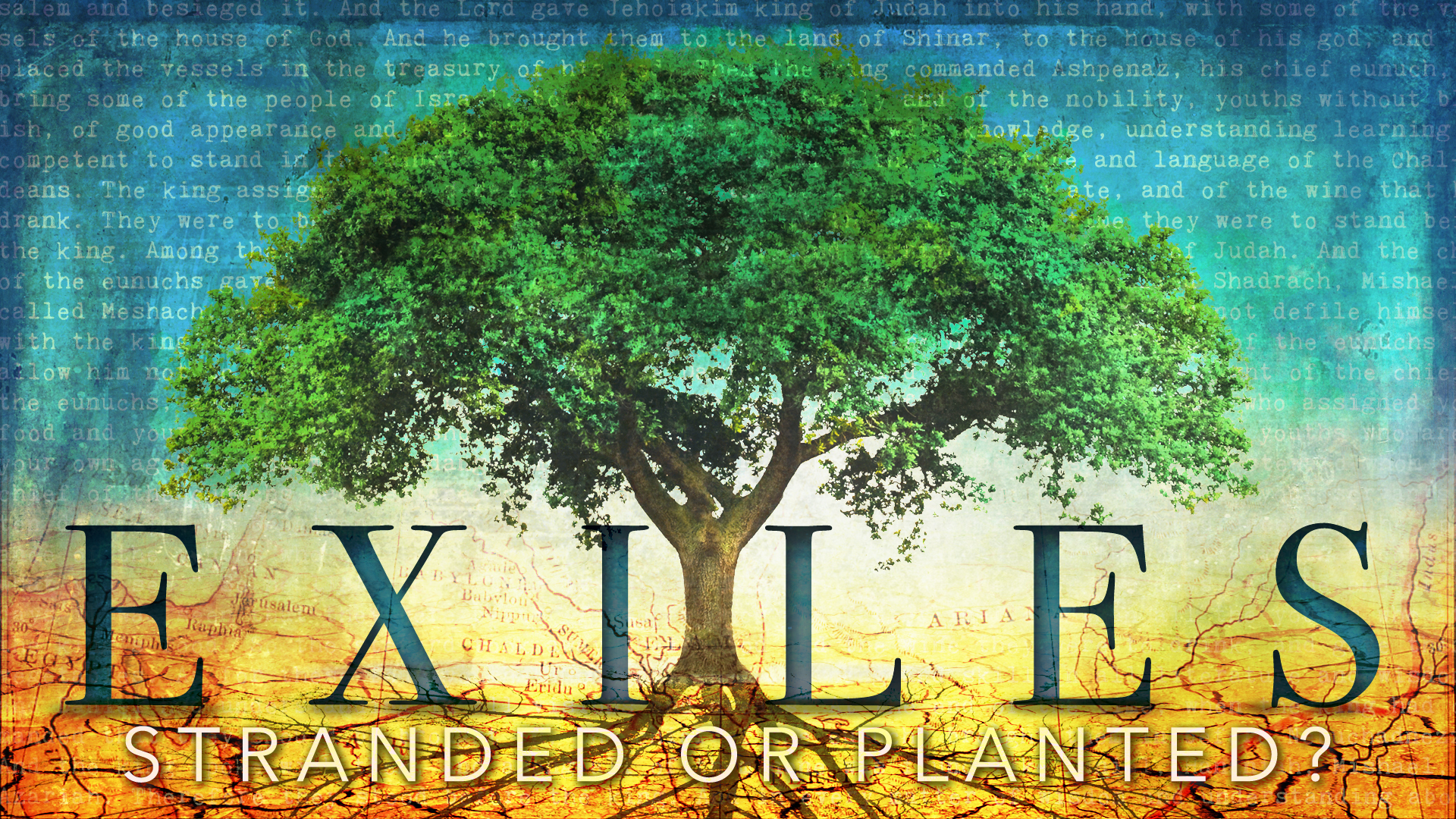 Sept. 11 – Introduction to Exiles: Stranded or Planted